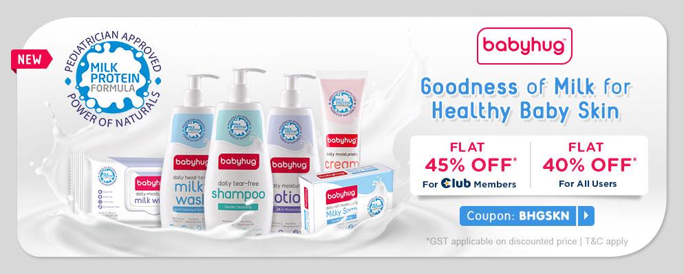 firstcry.com - Get Flat 40% OFF on Babyhug Skincare Range