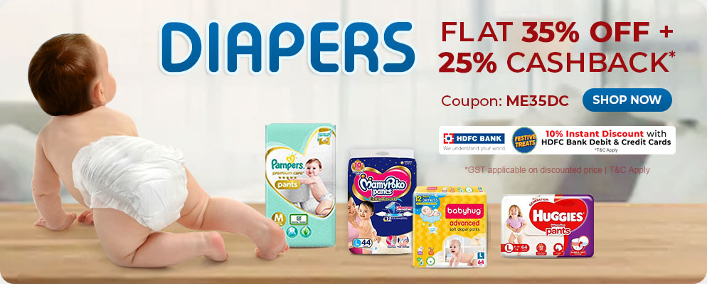 Firstcry Offers & Discount Sale - 35% discount on Baby Diapers
