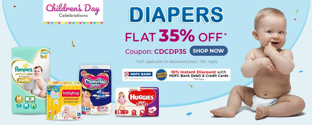 firstcry.com - 35% Discount on Diapers and Diapering Essentials