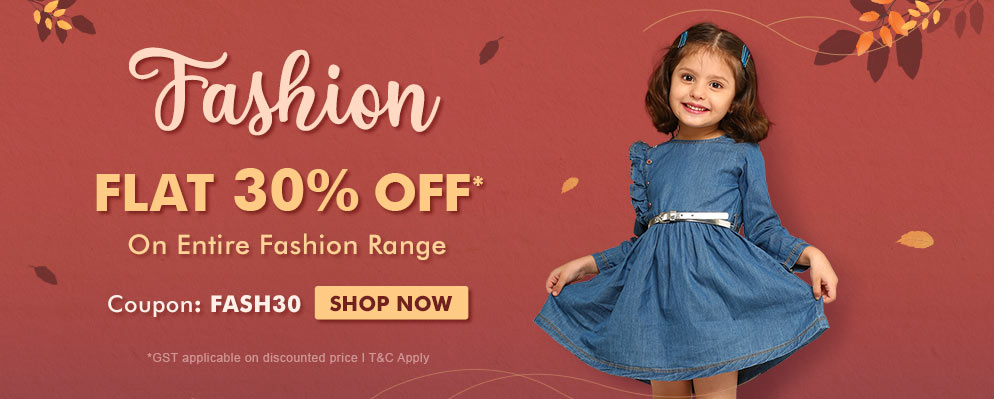 Coupons and Offers for FirstCry - Flat 30% OFF on Entire Fashion Range