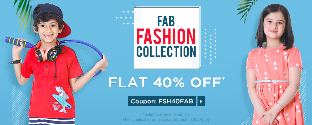 firstcry.com - Flat 40% Discount on Fab Fashion Collection