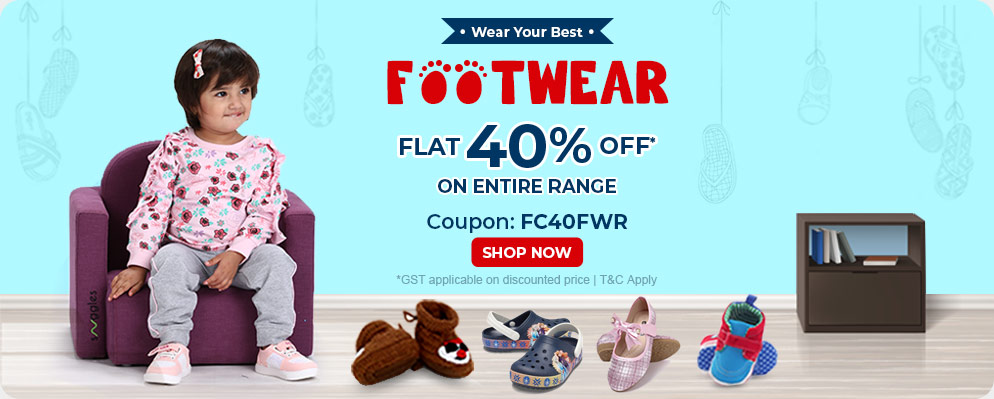 Firstcry Offers & Discount Sale - Get 40% OFF on Kids Footwear