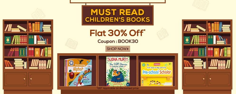 - Flat 30% off on Books Range