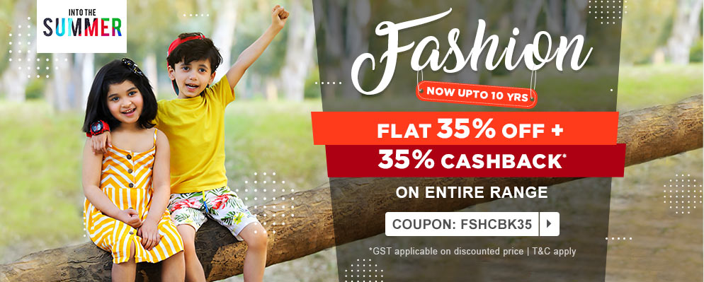 firstcry.com - Get 35% discount + Additional 35% Cash Back on Entire Fashion Range