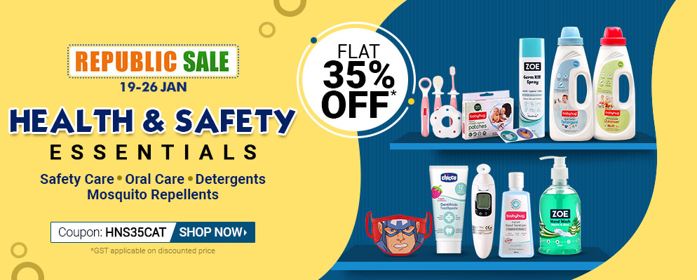 firstcry.com - Get 35% Off on Health & Safety