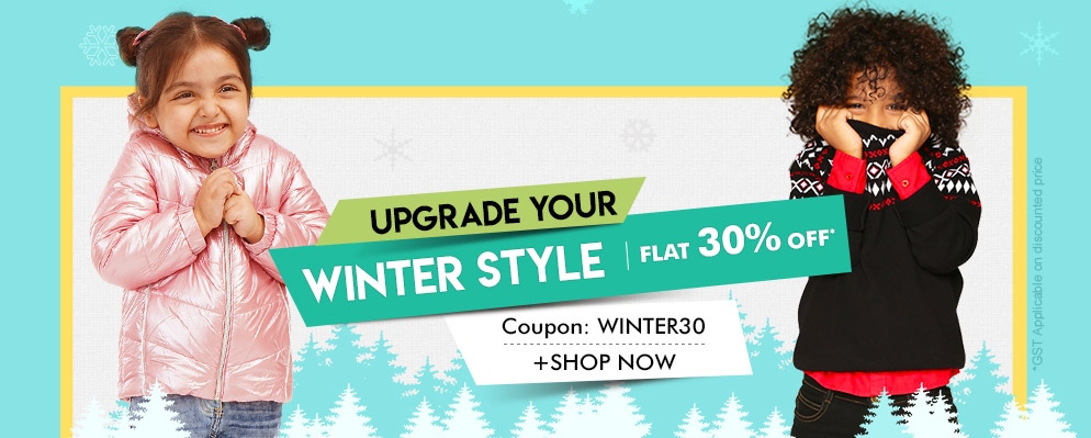 firstcry.com - Flat 30% Off on Select Winter Styles