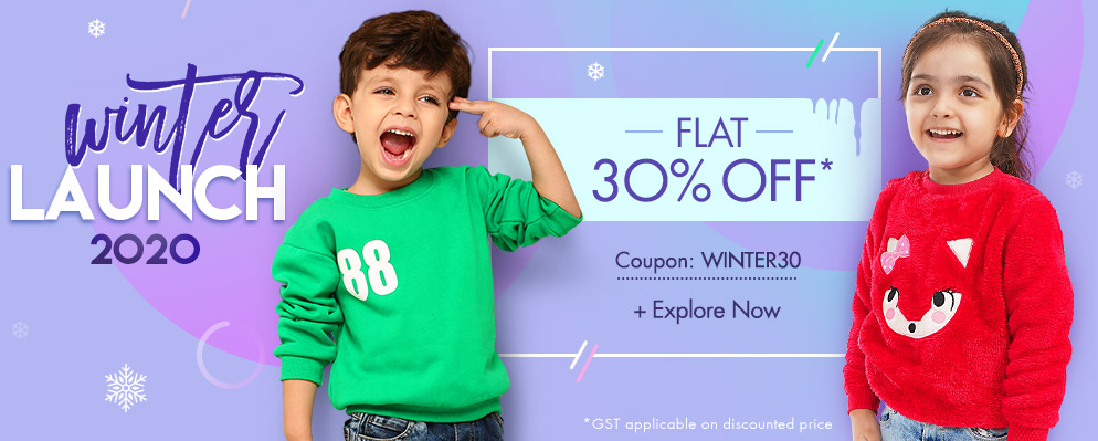 Firstcry Offers & Discount Sale - Get Flat 30% off on Winter Styles