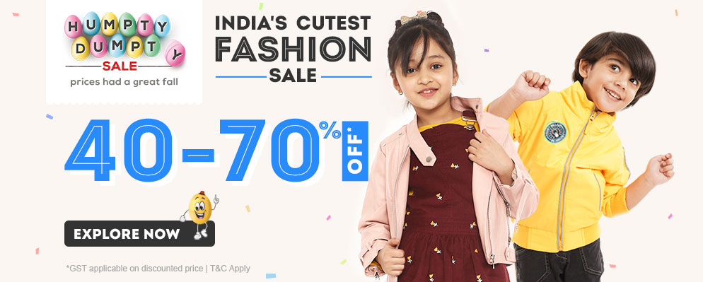 firstcry.com - Get Up To 70% discount + Additional 5% discount on Kids Fashion