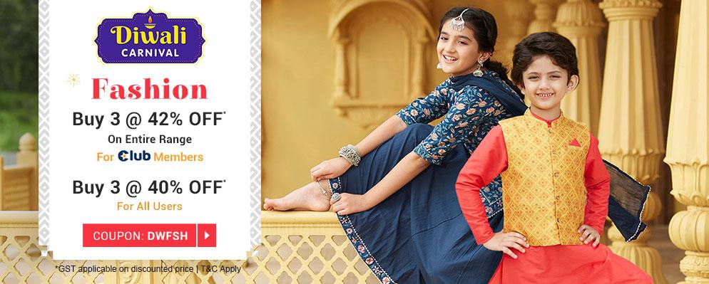 firstcry.com - Get Buy 3 Get 1 40% discount on Kids Fashion