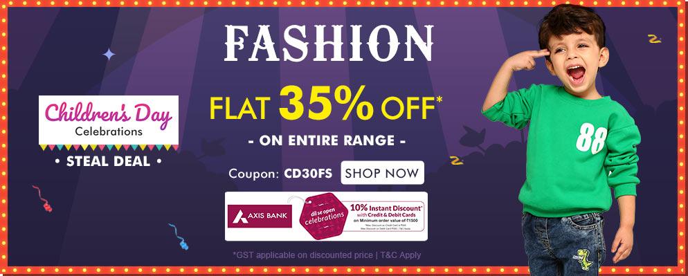 FirstCry.com - Flat 35% discount on Kids Fashion