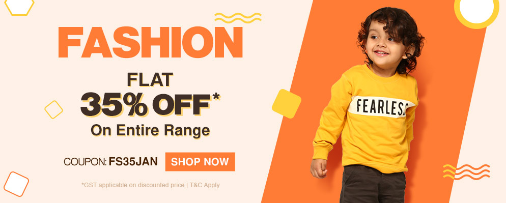 firstcry.com - Avail Flat 35% Discount on Entire Fashion Range