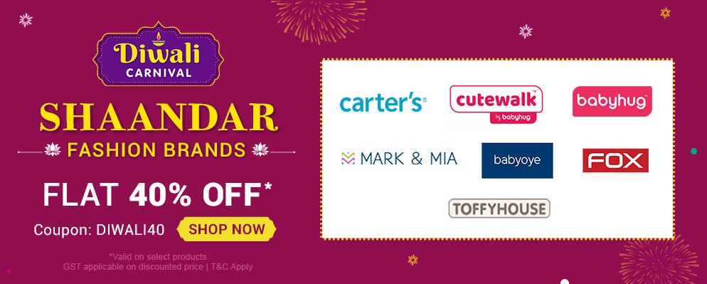 Firstcry Offers & Discount Sale - Flat 40% Discount on Top Fashion Brands