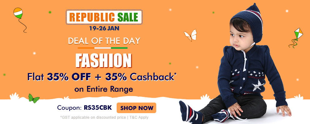 firstcry.com - Get Flat 35% discount + Extra 35% discount on Entire Fashion Range