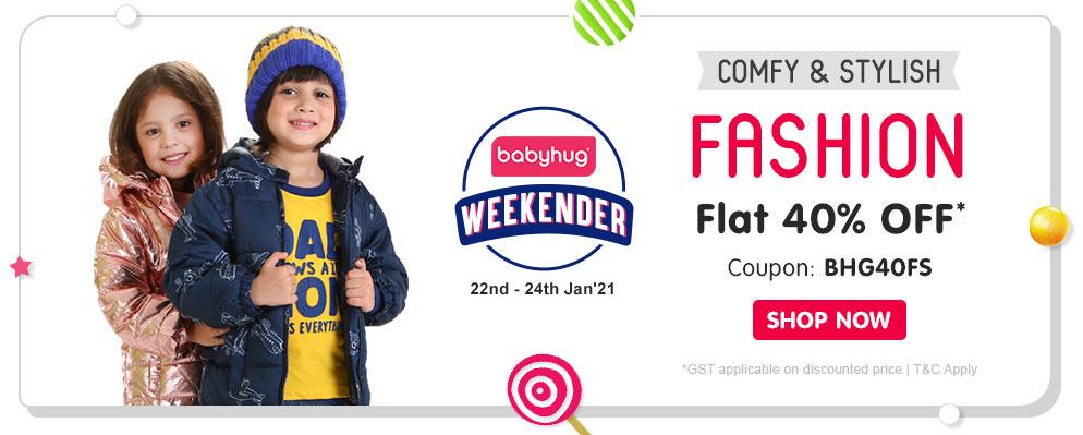 firstcry.com - Avail Flat 40% OFF on Select Babyhug Fashion