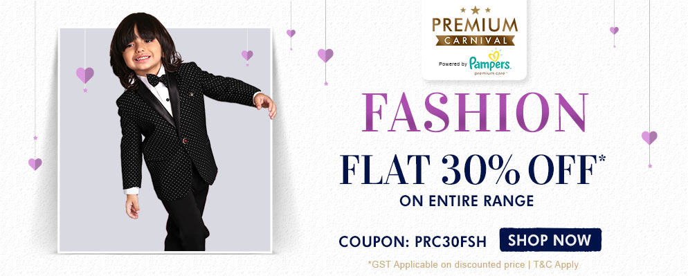 Firstcry Offers & Discount Sale - Flat 30% off on Entire Fashion Range