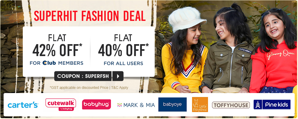 firstcry.com - Avail Flat 42% OFF on Fashion Products