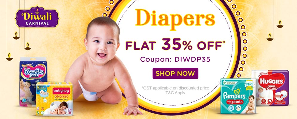 FirstCry - Avail Flat 35% discount on Baby Diapers
