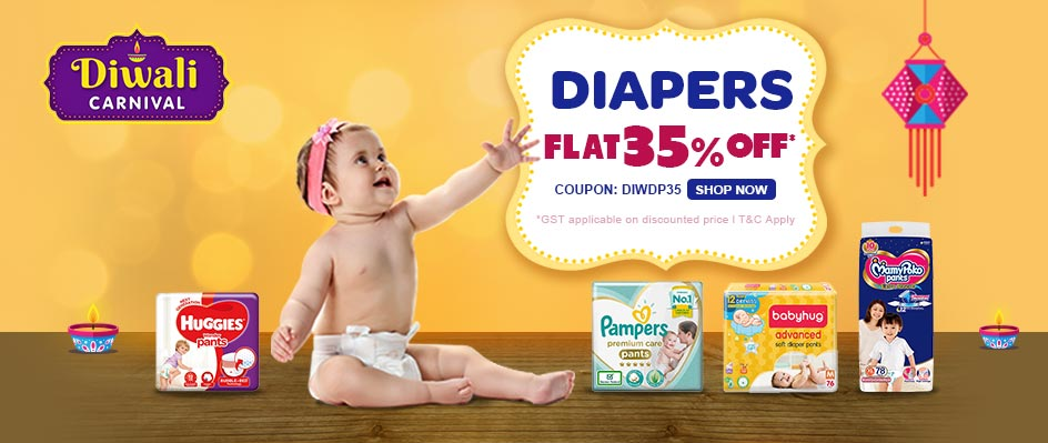 firstcry.com - Get Flat 35% Discount on Diapers and Diapering Essentials