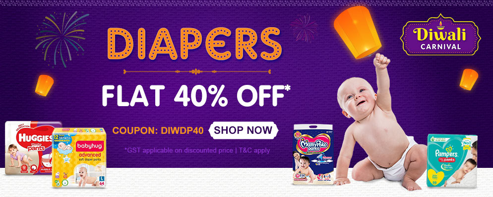 firstcry.com - Flat 40% OFF on Diapers & Diapering Essentials