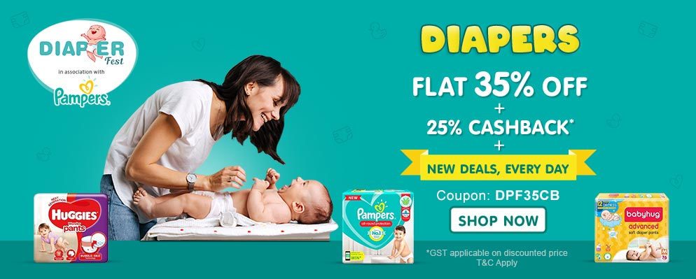 FirstCry.com - Avail 35% Discount + Additional 25% cash-back on Diapering Range