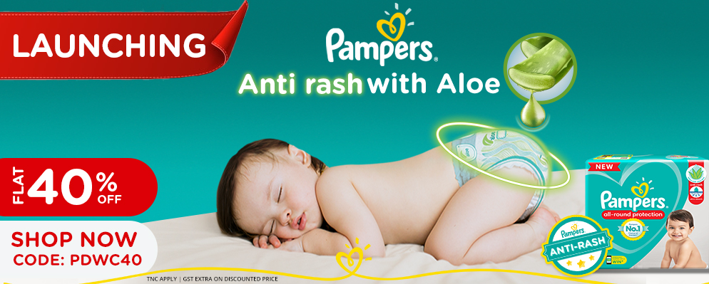 firstcry.com - Avail Flat 40% Off on Pampers Diapers