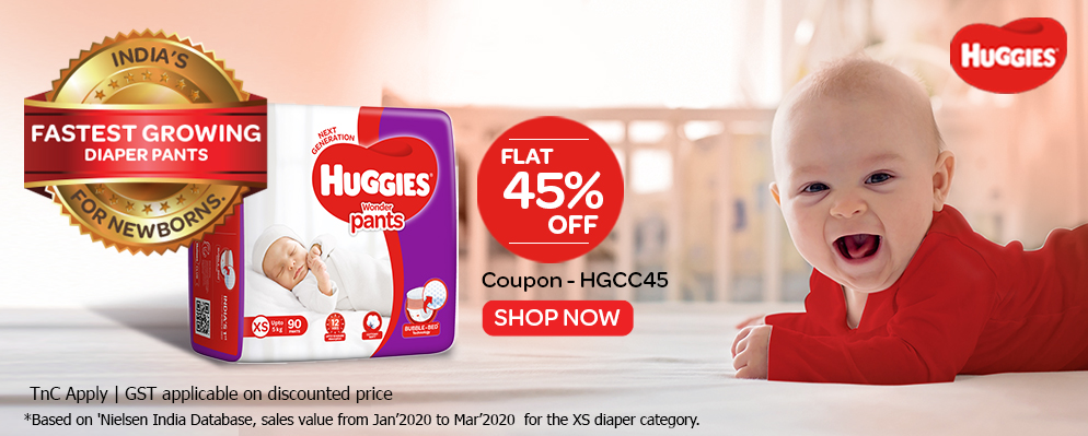 firstcry.com - Get 45% discount on Huggies Diapers