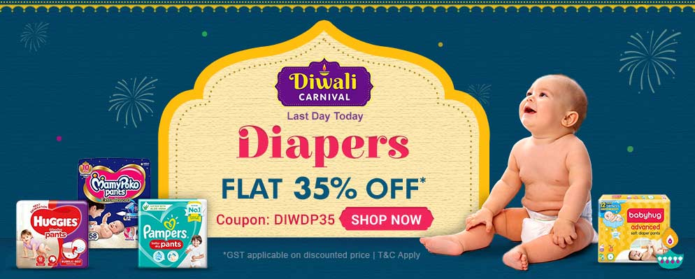 firstcry.com - Avail 35% off on Baby Diapers