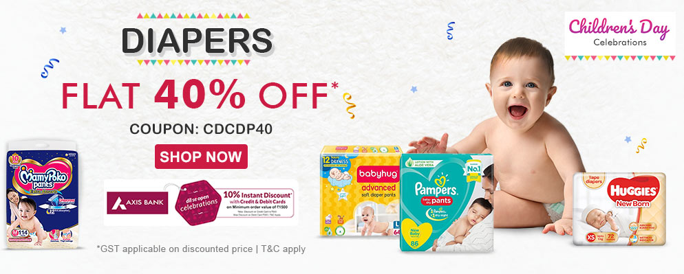 firstcry.com - Get Flat 40% Off on Diapers