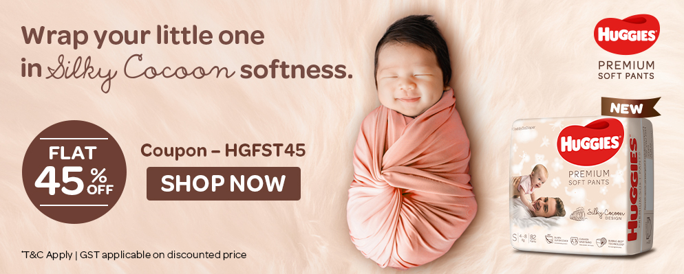 firstcry.com - Flat 45% Discount on Huggies Diapers