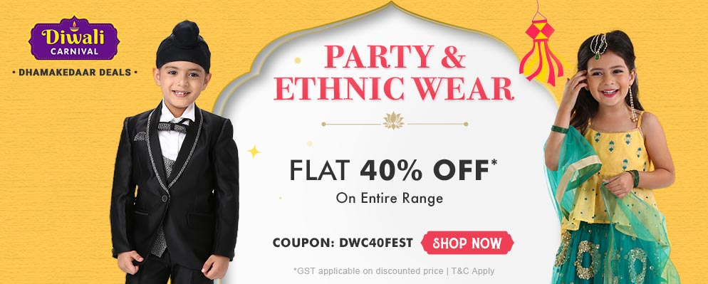 firstcry.com - Get Flat 40% off on Party & Ethnic Wear