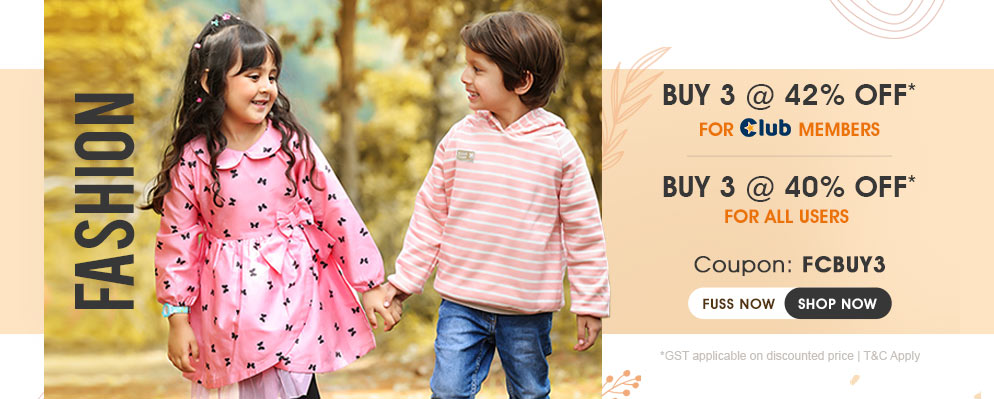firstcry.com - Avail Buy 3 Get 40% Off on Kids Fashion