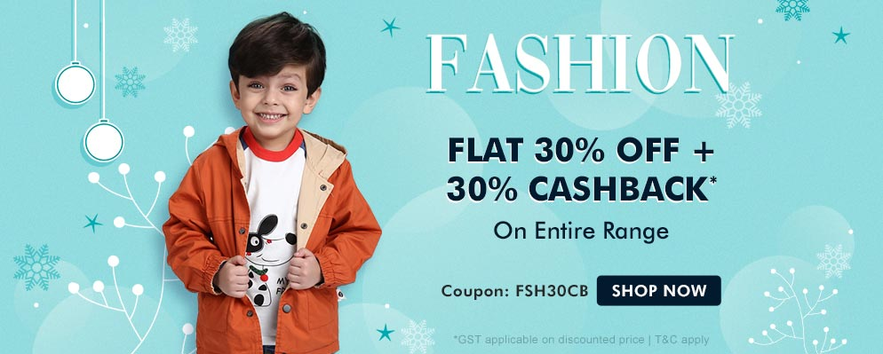 Coupons and Offers for FirstCry - Get 30% Off + Additional 30% cash back on Kids Fashion