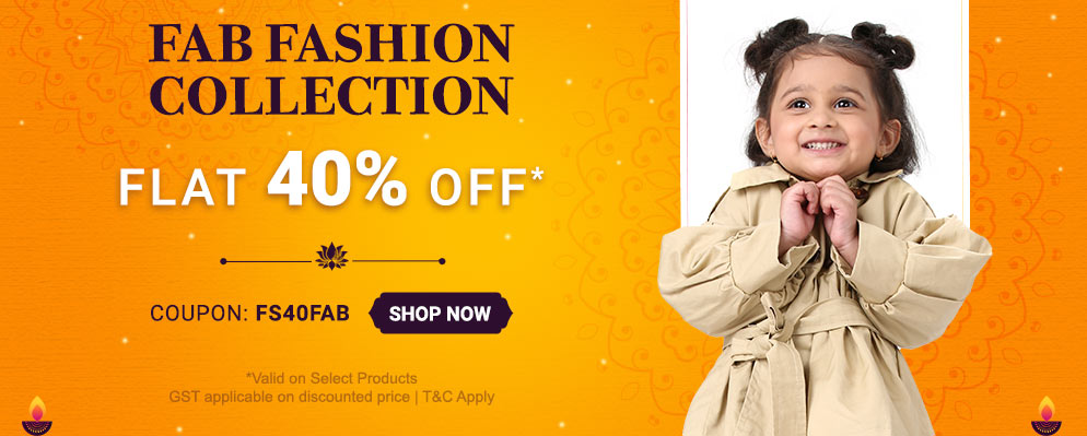 Coupons and Offers for FirstCry - Get Flat 40% Discount on Kids Fashion