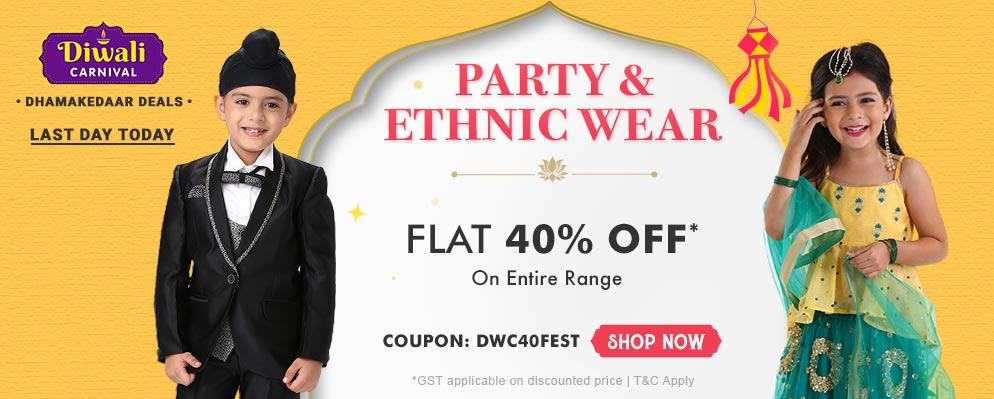 firstcry.com - Get Flat 40% discount on Select Fashion Range