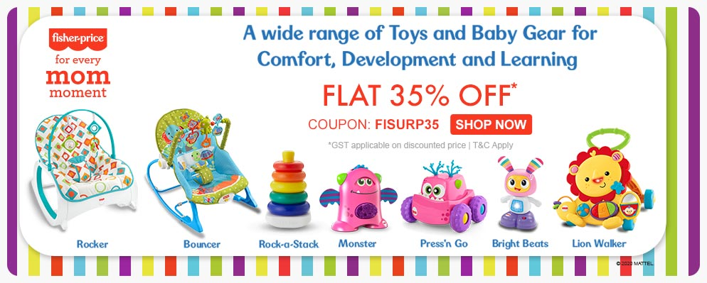 FirstCry.com - Get 35% discount on Select Fisher Price Range