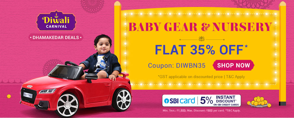 Firstcry Offers & Discount Sale - Flat 35% discount on Entire Baby Gear & Nursery Range