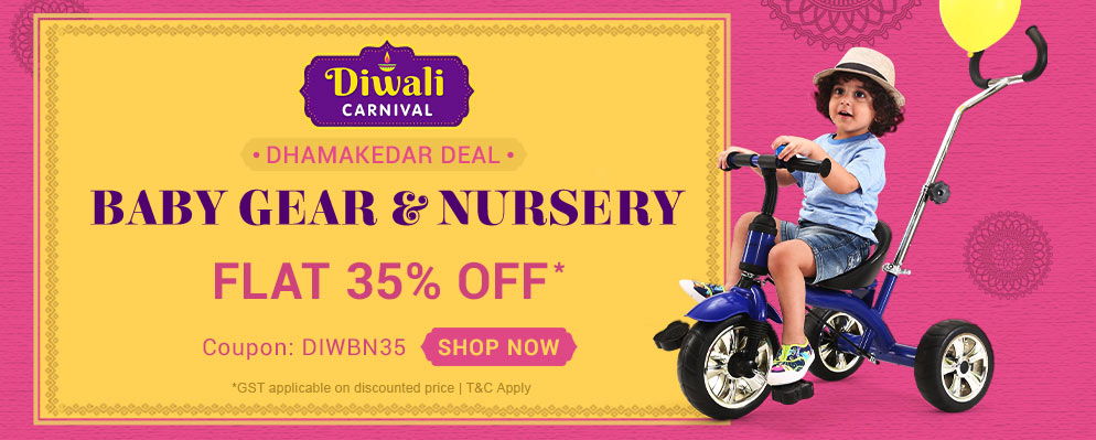 Firstcry Offers & Discount Sale - Avail Flat 35% discount on Entire Baby Gear & Nursery Range