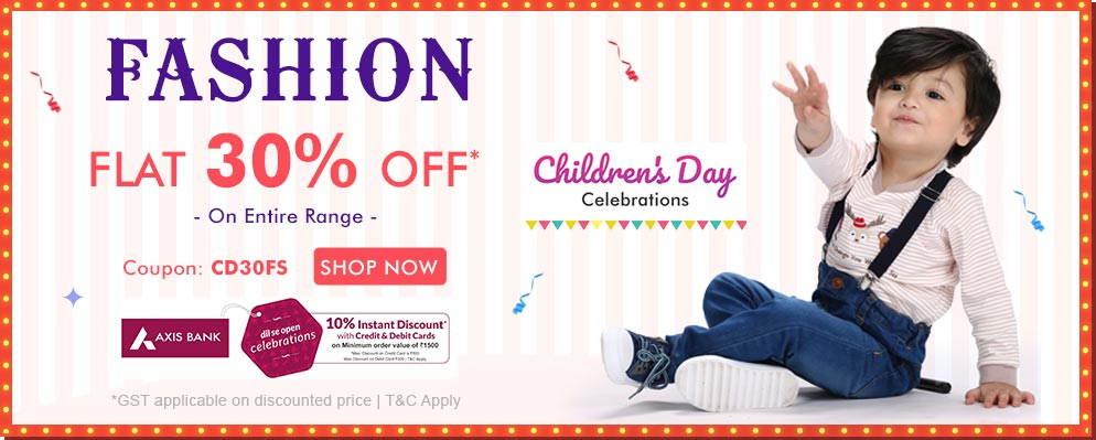 firstcry.com - Get Flat 30% OFF on Kids Fashion