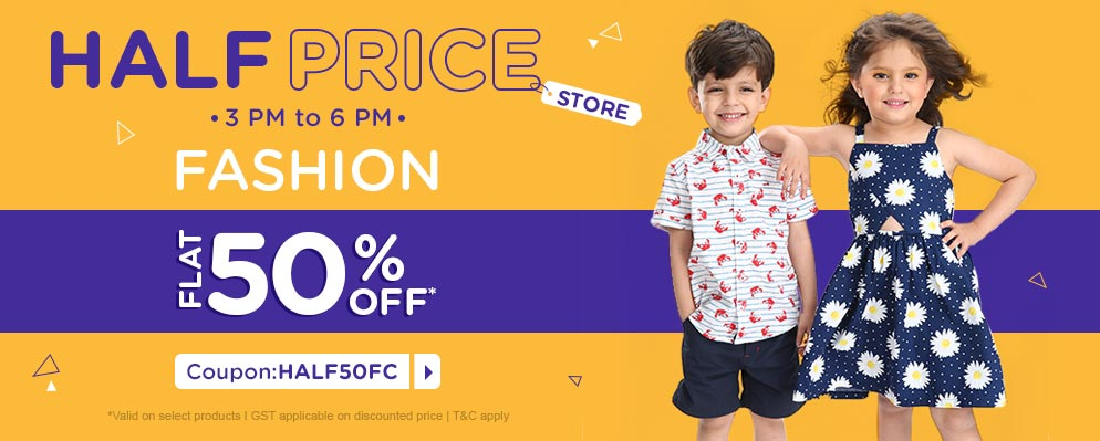 firstcry.com - Flat 50% discount on Selected Fashion Range