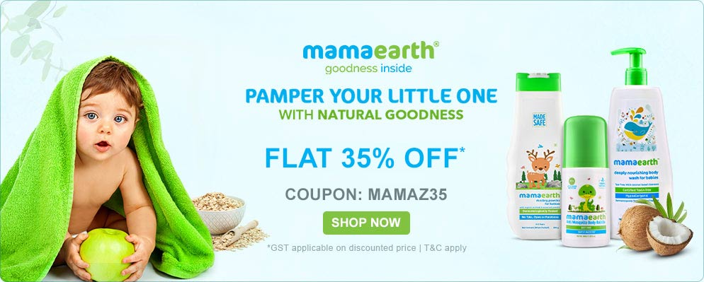firstcry.com - Get Flat 35% Discount on Mama Earth Products