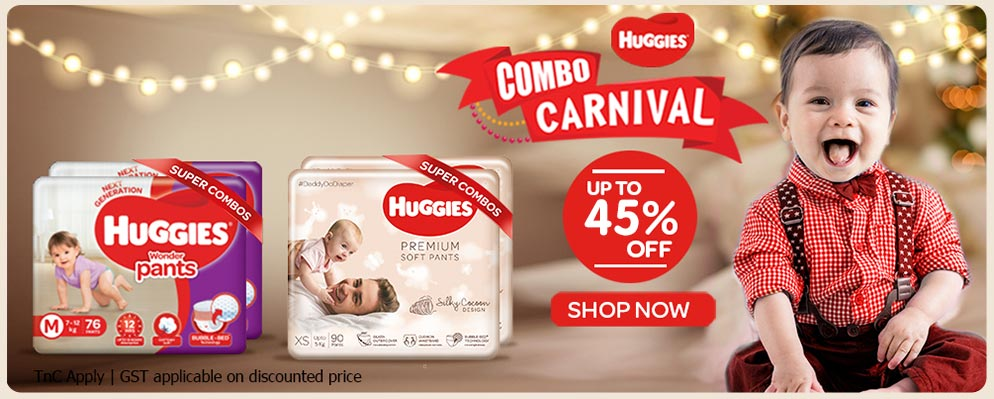 Firstcry Offers & Discount Sale - Get Upto 45% Off on Huggies Pants Combo Packs