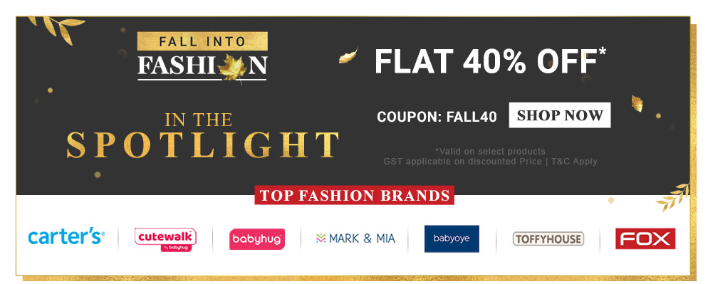 firstcry.com - Get Flat 40% off on Select Fashion Brands