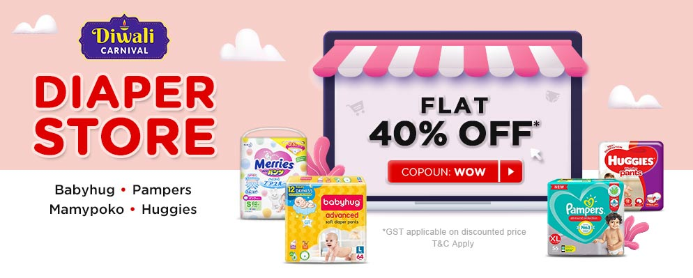 firstcry.com - Get 40% off on Diapers
