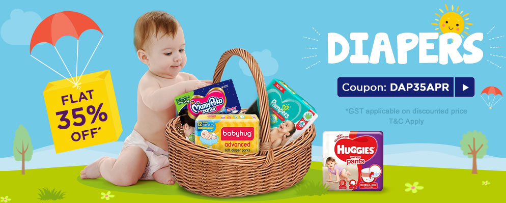 Coupons and Offers for FirstCry - Avail 35% Off on Diapers