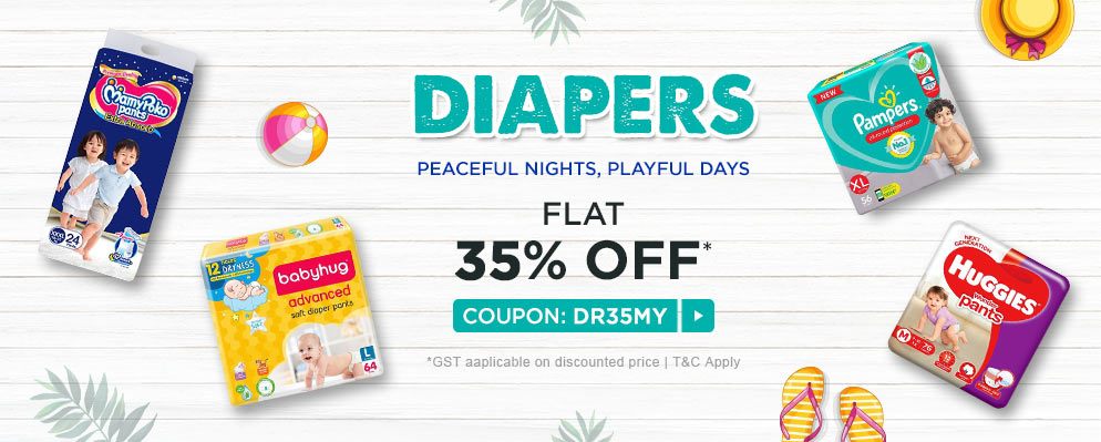 firstcry - Avail Flat 35% OFF on Diapers
