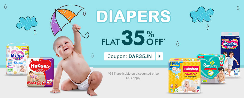 firstcry.com - Flat 35% discount on Diapers