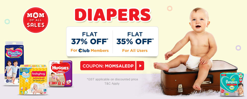 firstcry.com - Get Flat 35% discount on Diapers