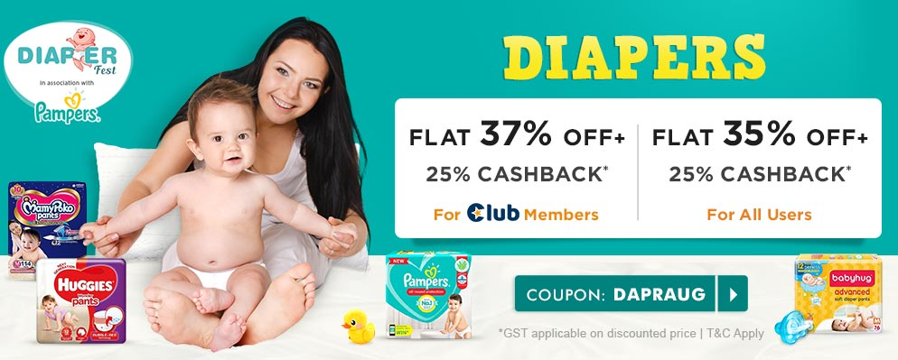 firstcry.com - Get 35% OFF + Additional 25% Cashback on Diapers