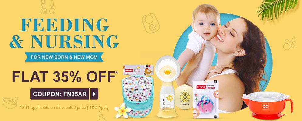 firstcry.com - Flat 35% off on Feeding & Nursing Range