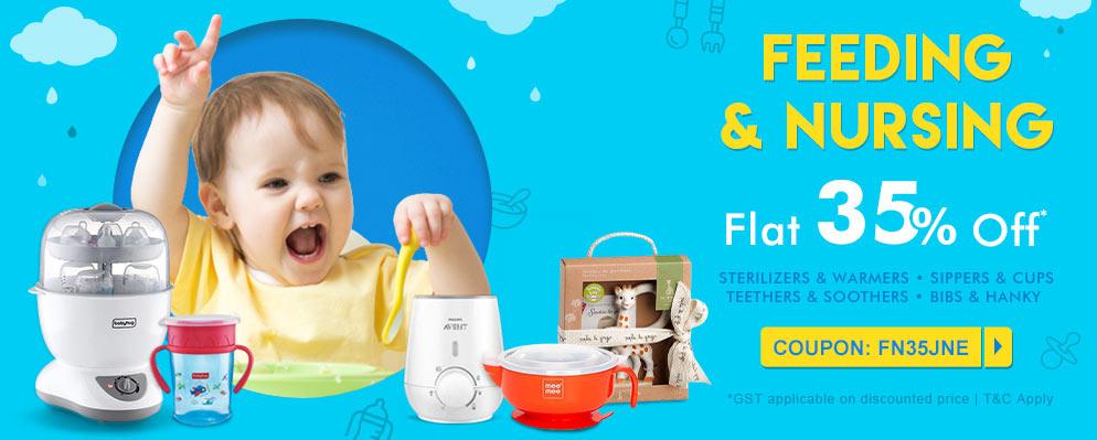 firstcry.com - Avail Flat 35% discount on Feeding and Nursing Range